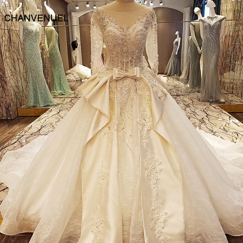 LS97543 elegant China bridal gowns beading ball gown corset back wedding dress with sleeves vestidos de noiva real photos