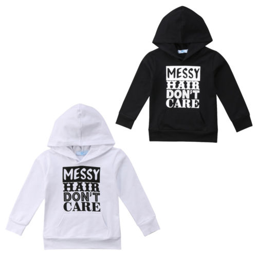 215d43ab6 Kids Baby Boy Girl Messy Hoodie Hooded Sweatshirt Pullover Coat ...