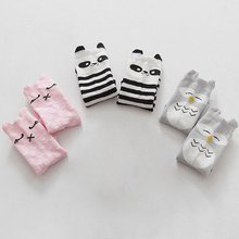 Cotton Girls Boy Animal School Anti-slip Knee High Kids Baby Socks Hot Selling