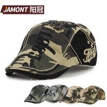 Jamont  marca moda camuflaje algodón boina sombrero gorras Viseras hombres  mujeres al aire libre tapa Sol sombrero gorras plana. 0903dc50254