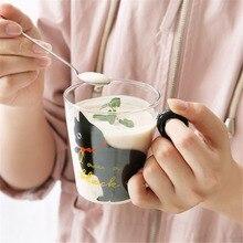 8.5oz Cute Creative Cat Milk Coffee Mug Water Glass Mug Cup Tea Cup Cartoon Kitty Home Office Cup For Fruit Juice