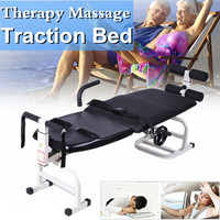 3 In1 Traction Stand able Design Therapy Recovery Massage Bed Table Cervical Lumbar Traction Stretching Device Comfortable Black