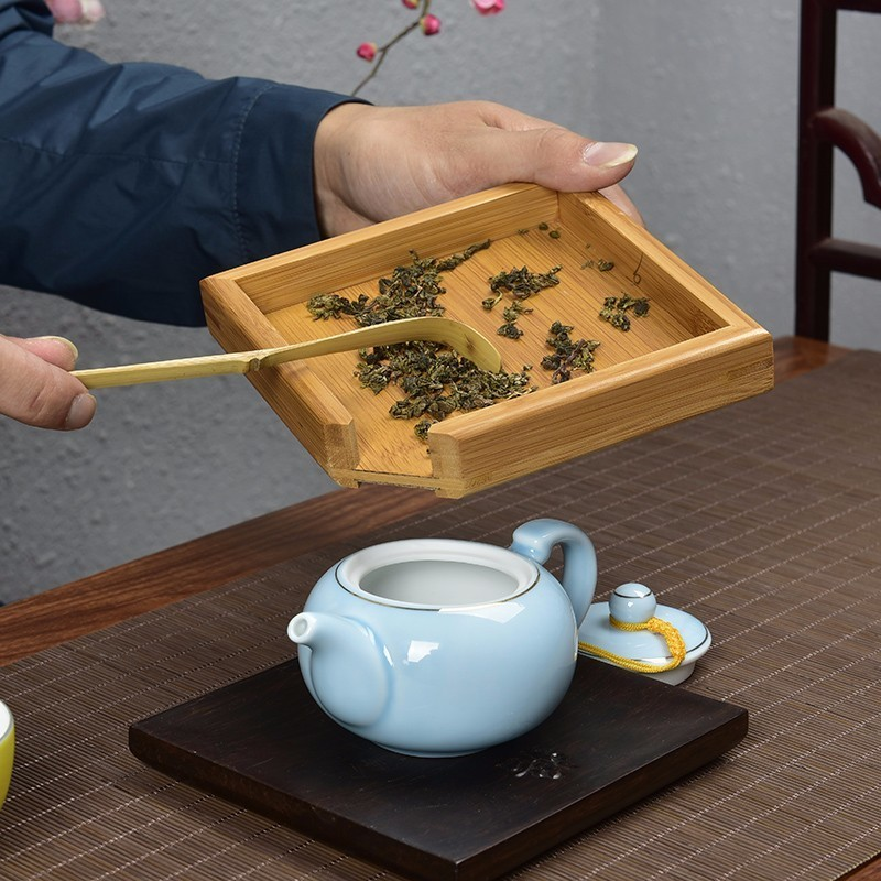Rectangular Bamboo Tea Tray 4