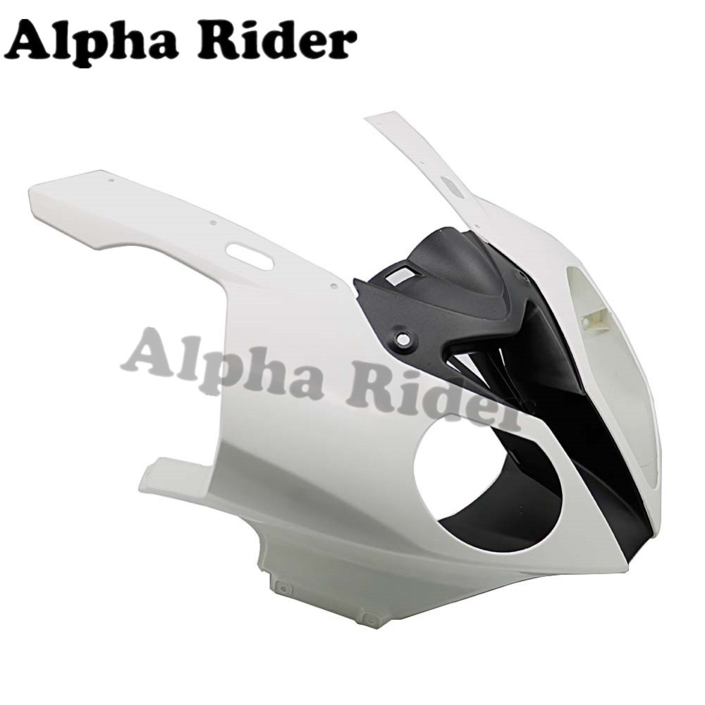 For BMW S1000RR 2010 2014 Unpainted Head Fairing Front Upper Nose Cowling Injection S1000 RR S