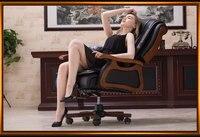 Silla de ordenador de casa silla giratoria de cuero
