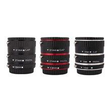 Набор удлинительных трубок для Canon EF EF S объектив Canon 700d t5i 7d 5d черный, красный, серебристый цвет Kaliou 13 мм 21 мм 31 мм