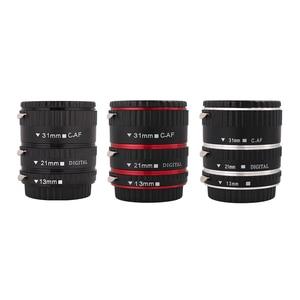 Image 1 - Kaliou 13mm 21mm 31mm Auto Focus Macro Extension Tube Set für Canon EF EF S Objektiv Canon 700d t5i 7d 5d Schwarz Rot Silber farbe
