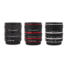Kaliou 13mm 21mm 31mm Auto Focus Macro Extension Tube Set for Canon EF EF S Lens Canon 700d t5i 7d 5d Black Red Silver color