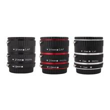 Kaliou 31 21 13mm mm mm Auto Foco Macro Extension Tube Set para Canon EF Lente Canon 700d EF-S t5i 7d 5d Preto cor Prata Vermelho