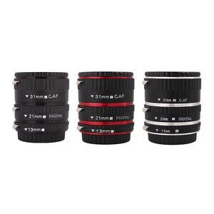 Image 1 - Kaliou 13mm 21mm 31mm Auto Focus Macro Extension Tube Set for Canon EF EF S Lens Canon 700d t5i 7d 5d Black Red Silver color