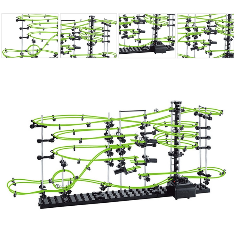 Space Coaster Rollercoaster Model Building Kits Spacerails Glow in the Dark 13,500mm Rail Level 3 Game 233-3G image