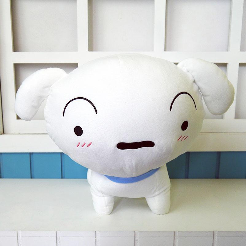 Crayon Shin-chan plush toy anime action figure Shin-chan pet white dog plush doll 40cm short plush pillow free shipping