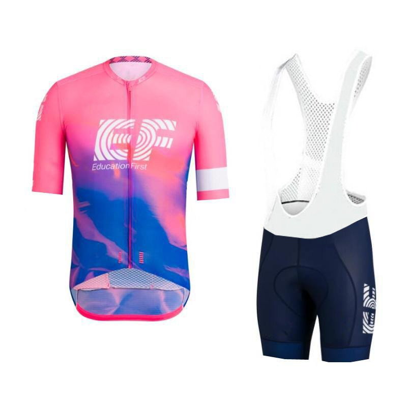 2019 pink pro tour team ef cycling jersey set Bicycle maillot breathable MTB quick dry bike clothing Ropa ciclismo gel pad in Cycling Sets from Sports Entertainment