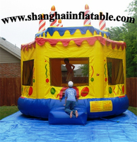 Inflatable Big Yellow Cake Bouncer Children Amusement Park Slide For Sale Commercial Entertainment Equipment Price Kids