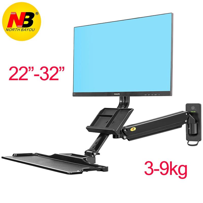 NB MC32 Ergonomic computer sit stand work station desk mount laptop table lifting table monitor bracket