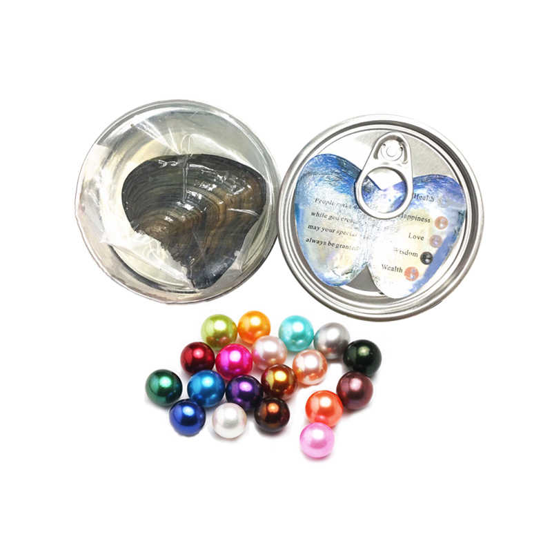 fantipearl 6-7mm pearl oyster in can AAA quality in oyster one pearl love wish pearl oyster in tin