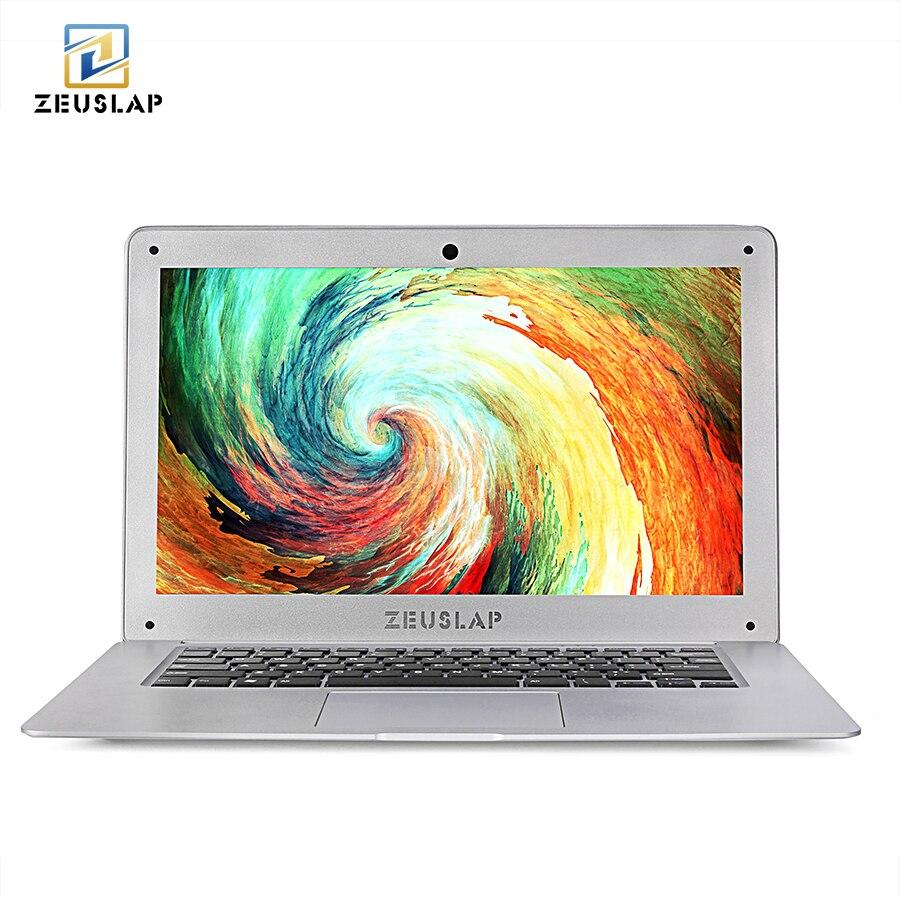 ZEUSLAP 14 дюймов 8 г оперативная память 64 Гб SSD 500 HDD Intel 4 ядра оконные рамы 10 системы 1920X1080 P FHD ультратонкий тетрадь ноутбук
