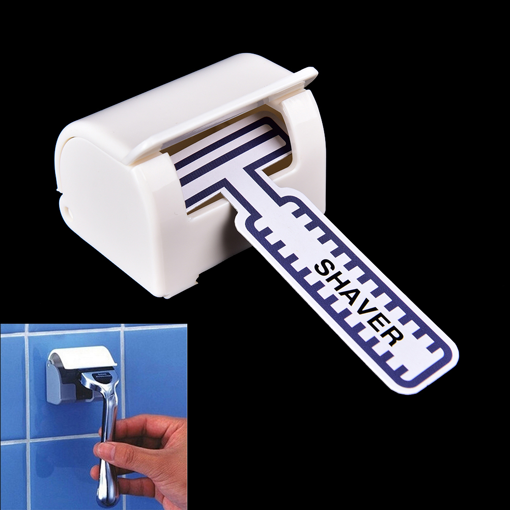 Plastic Razor Rack Sucked Sticky Cup Holder Wall Mounted Hanger Men's Razor Shaver Holder