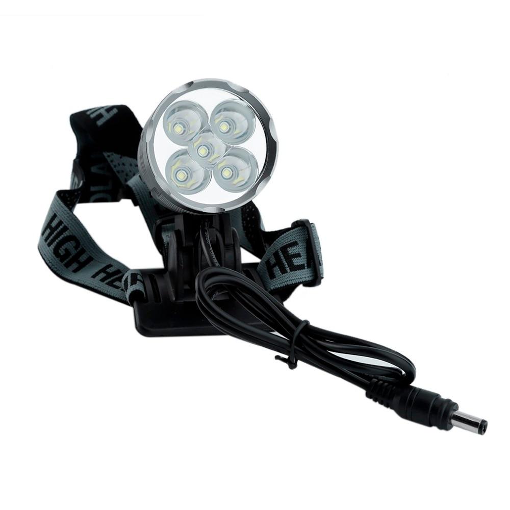 LED Headlight 5000LM XM-L T6 LED Bicycle Light Cycling Bike Head Lamp 6000mah18650 Battery Pack & Charger 3 Plugs Hot Sales 18000 lumens bike headlamp flashlight 9x cree xm l2 led bicycle light cycling helmet headlight 18650 battery pack charger
