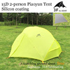 3F Piaoyun Ultra Light 2 Person 3 Seasons 2 Vestibules Tent With Mat