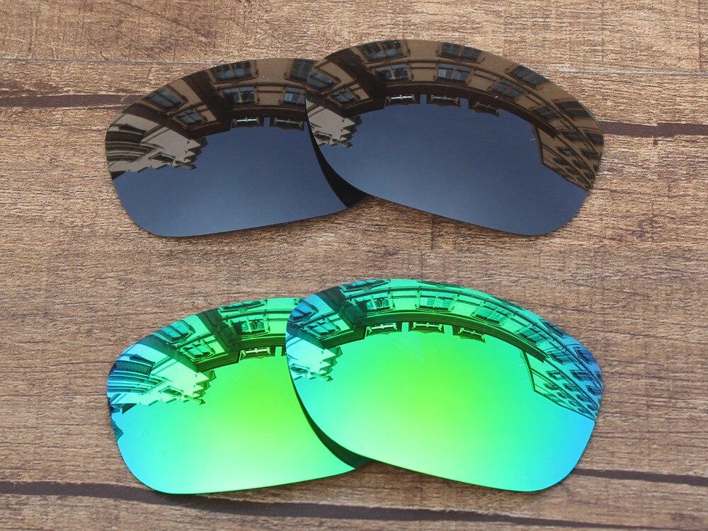 Черный и изумрудно-зеленый 2 пары ПОЛЯРИЗОВАННЫЕ замены Оптические стёкла для Pit Bull Солнцезащитные очки для женщин Рамки 100% UVA и UVB Защита