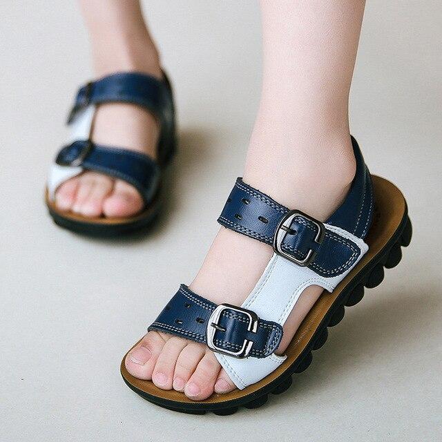 Ребенка летний новый детская обувь кожаные сандалии детские сандалии кожаные сандалии