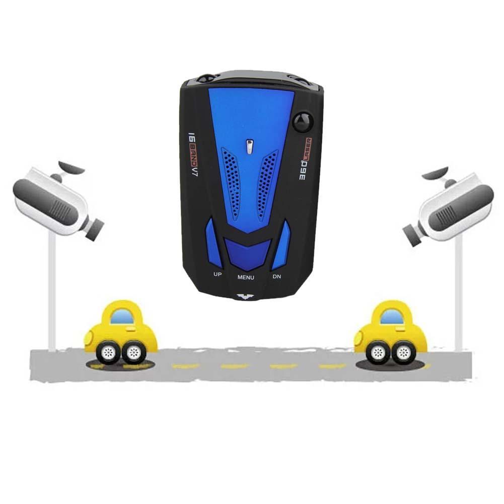 Авто 360 градусов скорость автомобиля лазерный голосовое оповещение Русский Радар детектор транспортного средства V7 голосовое предупрежде...