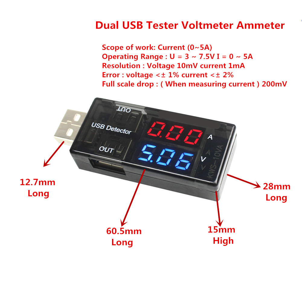 W1209 Led Digital Thermostat Temperature Control Thermometer Thermo Universal 4 In 1 Usb Car Charger Amperemeter Voltmeter Termometer Suhu Temperatur Red Blue Dual Current Voltage Charging Detector Tester Battery Ammeter Doctor