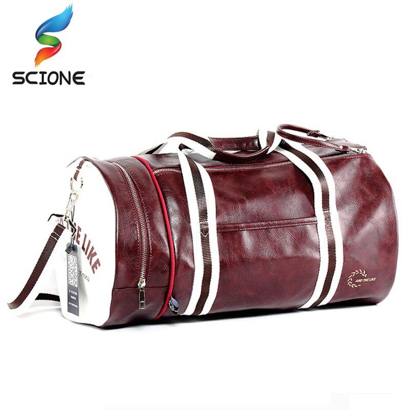 Купить на aliexpress Популярная спортивная сумка из искусственной кожи для занятий спортом на открытом воздухе, для занятий фитнесом, сумка на плечо с карманом, ...