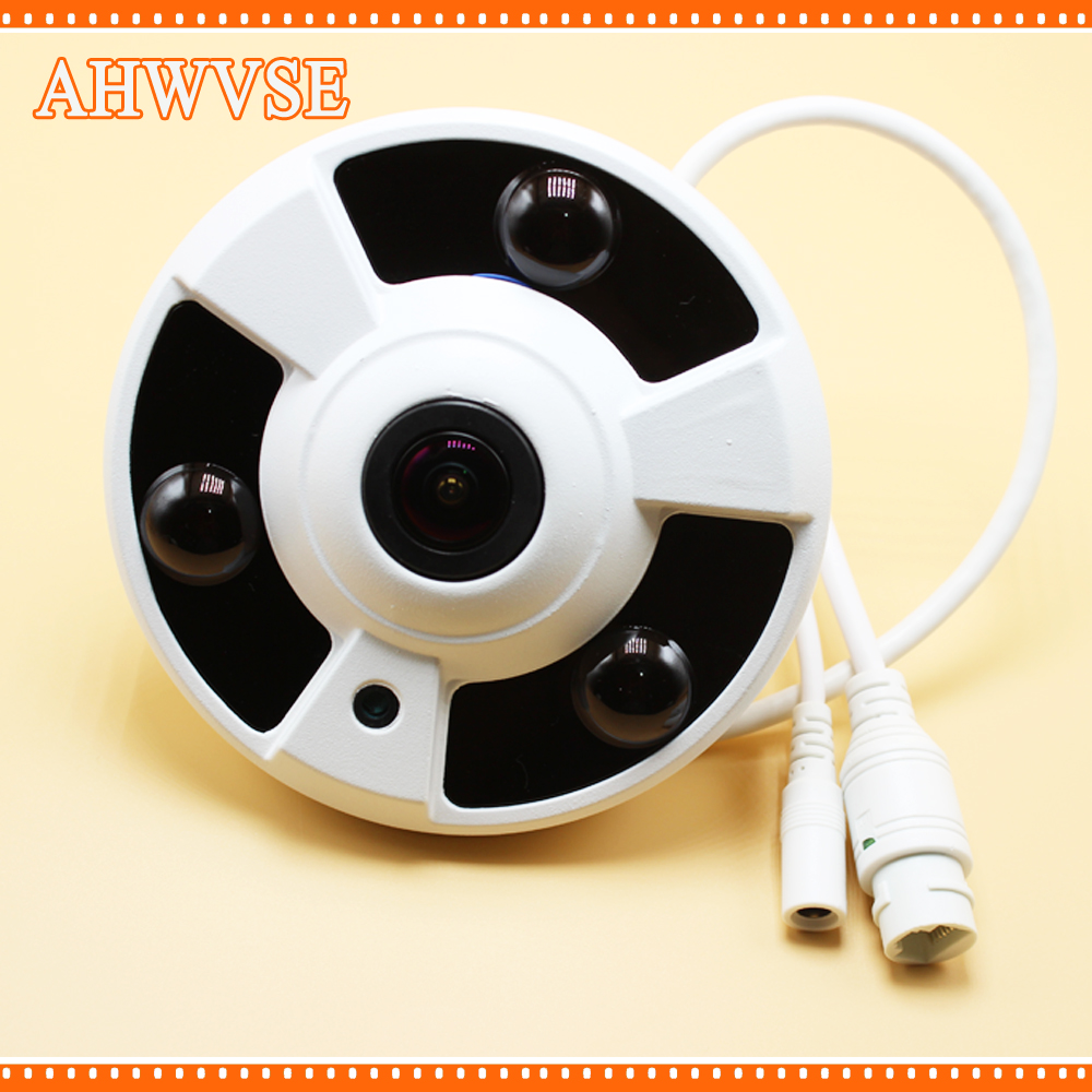 FishEye Panoramic Camera IP 720P 960P 1080P Optional IP Camera Wide Angle 5MP 1.7MM Lens Camera CCTV Indoor ONVIF 3 ARRAY IR LED купить