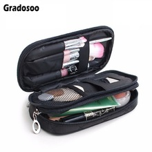 Gradosoo Thread Women Makeup Bag Small Cosmetic For Toiletry Travel Organizer Storage Female Pouch LBF587