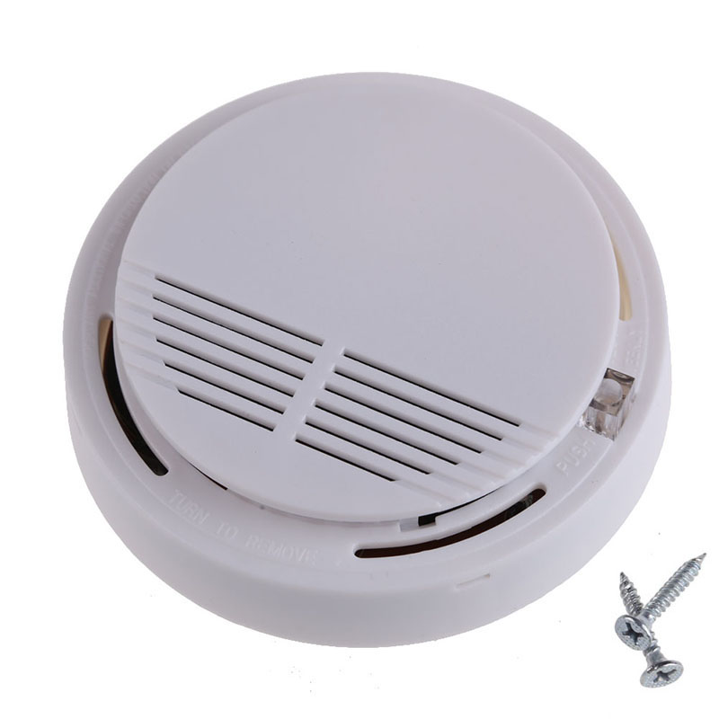White Durable 85dB Home Hotel Security Fire Protection Sensor Alarm Photoelectric Cordless Smoke Detector Security System
