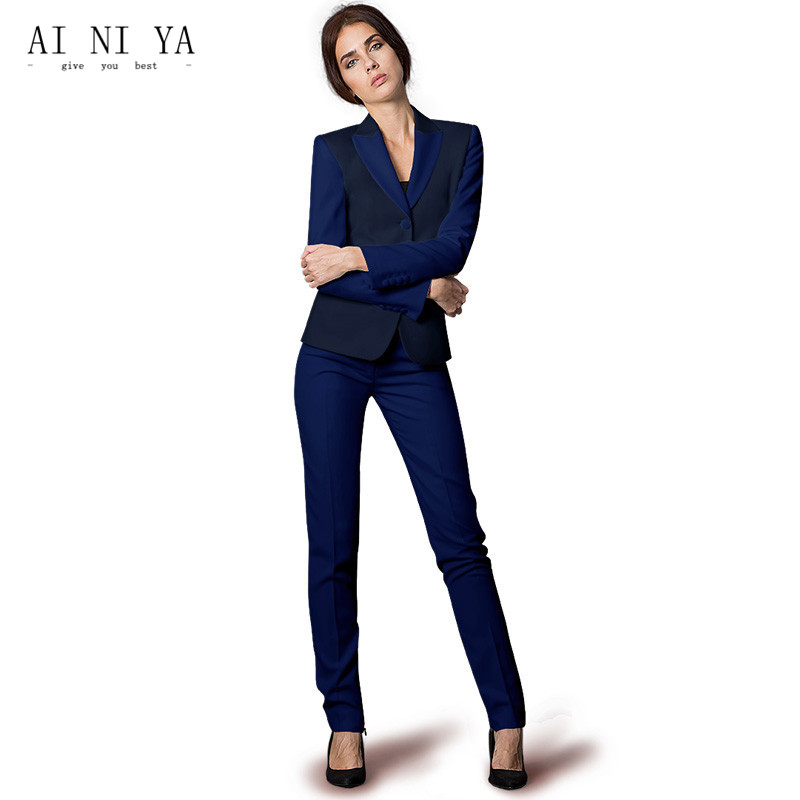 Women Business Suits Formal Office Uniform 2018 Elegant Womens Suits Blazer With Pants Trouser Work Wear for Ladies 2 Piece Suit