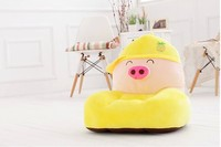 lovely plush fruit pig sofa toy cartoon yellow pineapple fruit pig sofa doll gift about 54x30x10cm