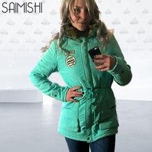 Saimishi Winter Warm Coat Women Long Parkas 2019 Faux Fur Ho