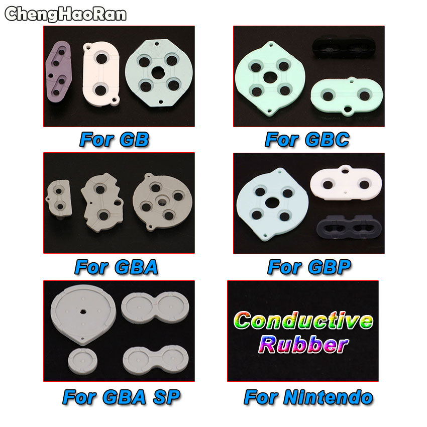 ChengHaoRan Rubber Conductive Buttons A-B D-pad for <font><b>GameBoy</b></font> Advance <font><b>Color</b></font> GB GBC GBP GBA SP Silicone Start Select Keypad image
