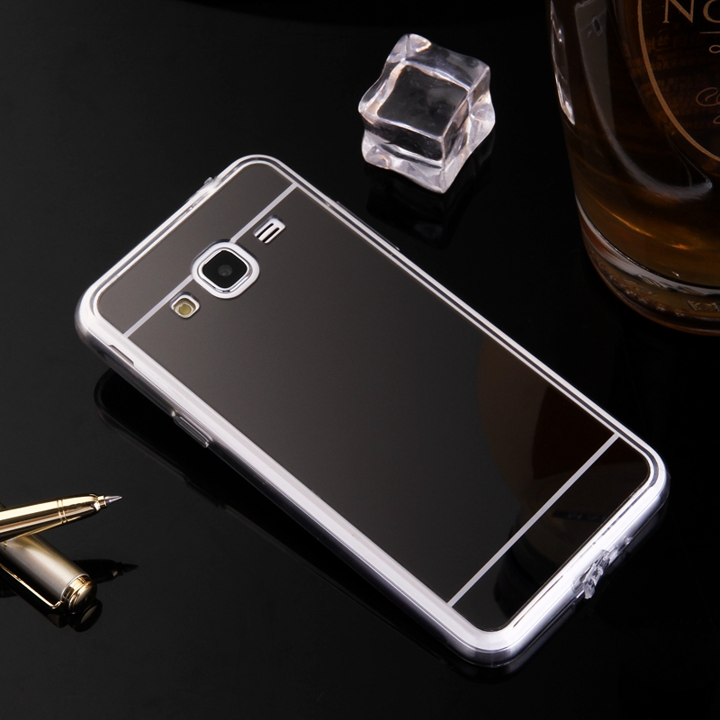 Phone Cases For Samsung Galaxy J3 2016 Mirror Case Soft TPU Back Cover Case For Galaxy J310 J310F SM-310F Cell Phone Shell Coque