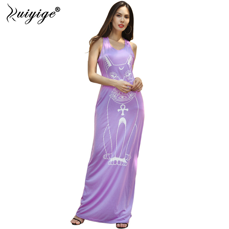 RUIYIGE 2018 fashion character cute brief casual work new plus size sexy holiday evening day slim fit ladies sleeveless dress