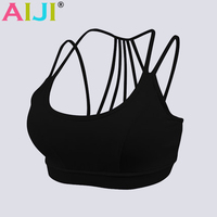 2016 New Sexy Women Sports Fitness Bra Athletic Yoga Bra Seamless Underwear Push Up Backless Hollow