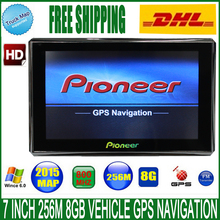 Free DHL shipping 7 inch Vehicle GPS Navigation 800M/FM/8GB/256MB newest  Maps For Russia/Europe car/truck CE 6.0 MTK Navigator