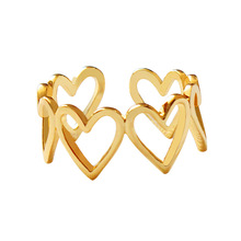 2019 New Hot Fashion Copper Hollow Heart Party Romantic Women Jewelry Elegant Ring 975
