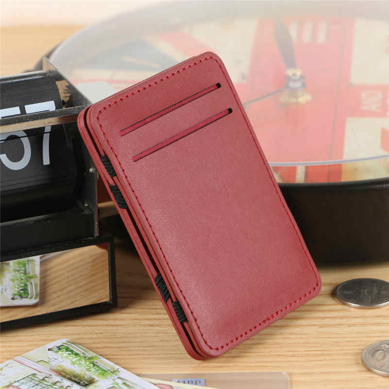 2016 Fashion New Designed Fashion Mini Neutral Magic Bifold Leather Card Holder Wallet Purse Money Hot