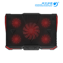COOLCOLD 5 FAN 2 USB Laptop Cooling Pad Adjustable Notebook Cooler +Holder for 12-17′ Laptop  usb fan
