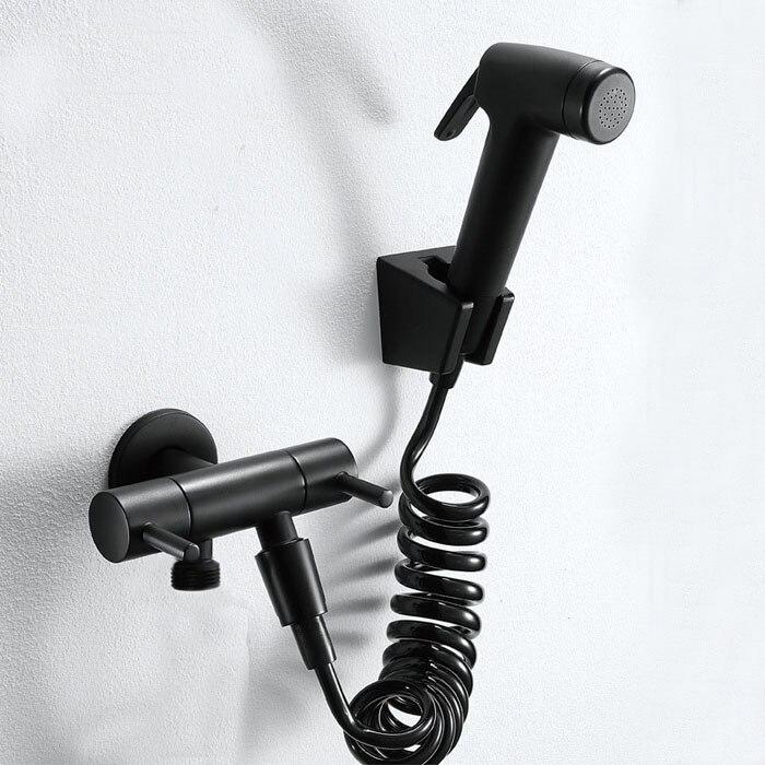 Bathroom Cold Bidet Tap With Bidet Shower Black Bidet Shower Brass Wall Mounted Woman Washer With Shattaf Set Bd809 Finely Processed Bidets & Bidet Parts