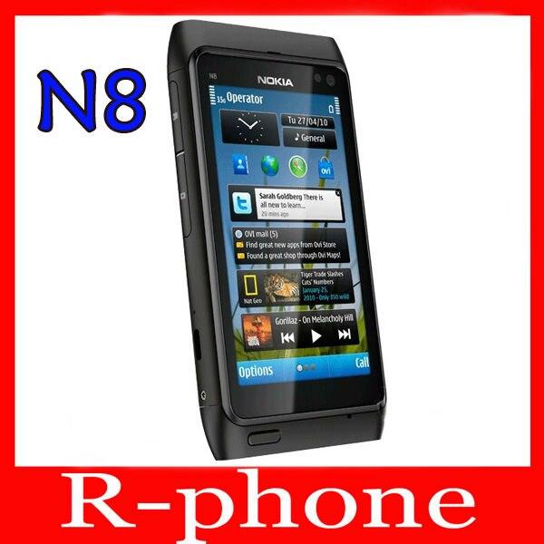 """Цена за Восстановленное в Исходном Nokia N8 Mobile Phone 3 Г, WIFI, GPS 12MP Сенсорный Экран 3.5 """"Открыл 16 ГБ Смартфон & Один год гарантии"""