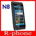 "Refurbished Original Nokia N8 Mobile Phone 3G WIFI GPS 12MP Touchscreen 3.5"" Unlocked 16GB Smartphone & One year warranty"