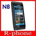 """Restaurado original nokia n8 mobile teléfono 3g wifi gps 12mp con pantalla táctil de 3.5 """"abrió el teléfono 16 gb smartphone & garantía de un año"""