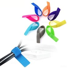 30Pcs Reusable Colored Nylon Cable Ties Wire Mouse Cord Protector Management Length 17.5cm