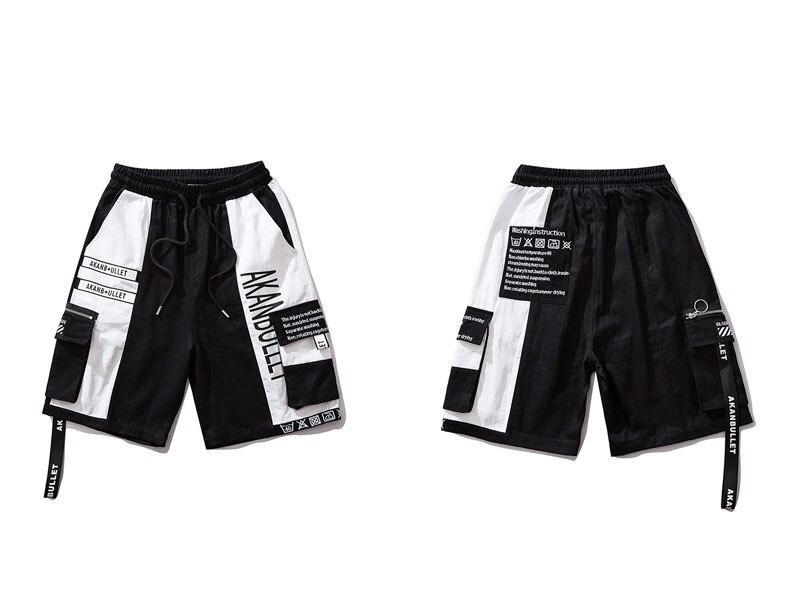 Side Ribbon Zipper Pockets Cargo Baggy Shorts 9