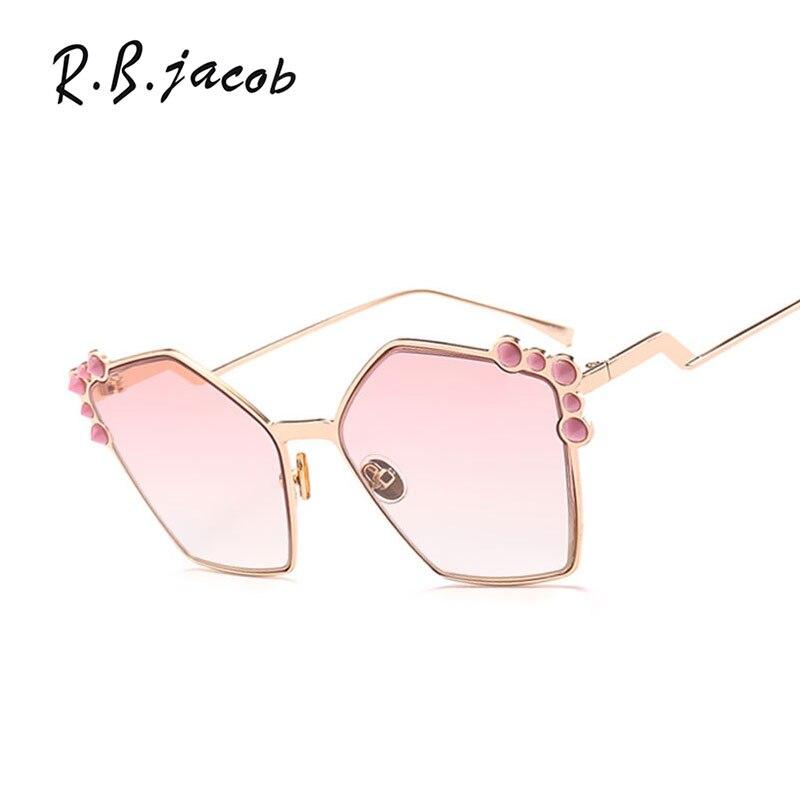 2017 New Irregular Colorful Sunglasses Women High Quality Brand Designer Charm Lady Sun Glasses UV400 Vintage Accessory Hipster